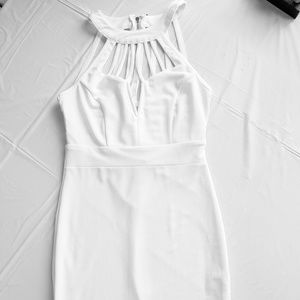 White Body Con Mini Dress S[ze M